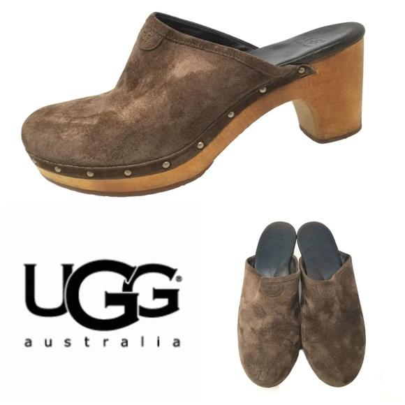 30ddb71d50 UGG Shoes | Australia Abbie Brown Suede Clogs Sz 9 | Poshmark